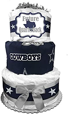 Brilliant Amazon Com Dallas Cowboys Fan Diaper Cake Baby Shower Gift Personalised Birthday Cards Paralily Jamesorg