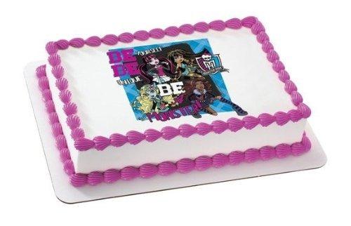 1/4 Sheet ~ Monster High Be Yourself Birthday ~ Edible Image Cake/Cupcake Topper!!! ()