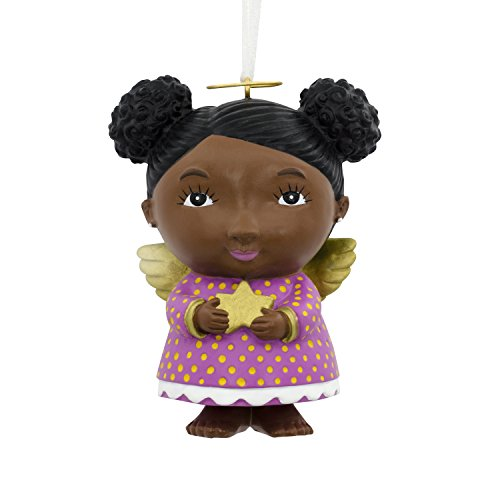 African Christmas Ornaments - Hallmark Mahogany Christmas Ornament Angel