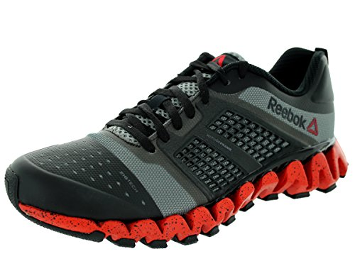 Reebok Zigwild Charge Trail Running Sneaker Shoe - Black/Carbon/Red/Gry - Mens - 8.5