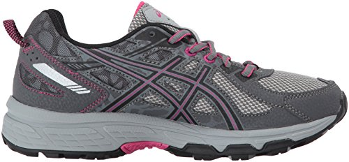 ASICS Women's Gel-Venture 6 Running-Shoes,Carbon/Black/Pink Peacock,9 Medium US by ASICS (Image #7)