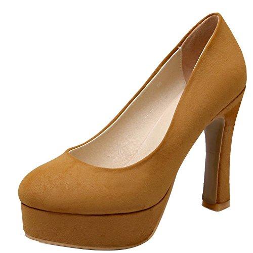 Carolbar Scarpe Da Donna Con Tacco Alto E Plateau, Scarpe Con Tacco Alto Giallo