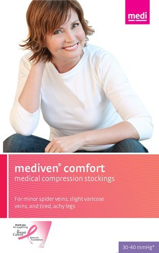 mediven comfort 30-40 mmHg Calf High Compression Stockings Open Toe [並行輸入品] B07QMT2HST
