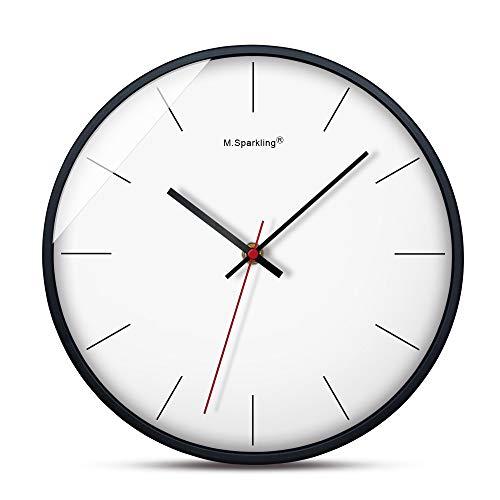 Giulot Round Silent Non Ticking Quartz Wall Clock - Elegant White Frame Modern Wall Clock 14