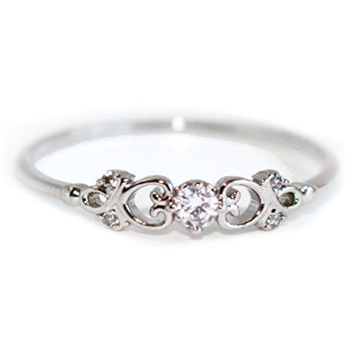 Gieschen Jewelers Casablanca 14K Rose/White Gold-Plated CZ Crystal Ring