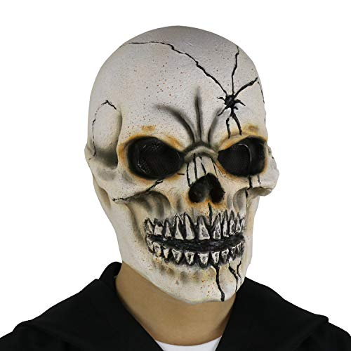 Sugar Skull Mask Halloween - FantasyParty Bone Skull Mask Deluxe Halloween