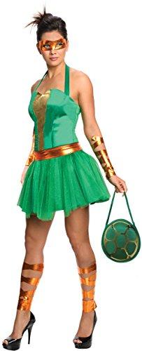 Secret Wishes  Costume Teenage Mutant Ninja Turtles Michelangelo Adult Female, Green, (Michelangelo Adult Female Costumes)