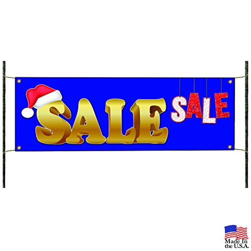 Christmas Santa Sale Retail Store Discount Available Vinyl Banner - 2482 Store