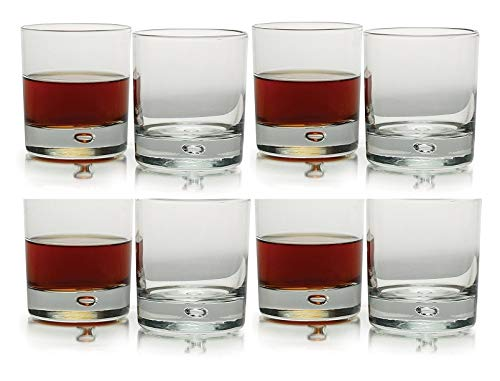 (Circleware Air Bubble Heavy Base, Drinking Glasses, Set of 8 (Oslo DOF-8 Pcs))