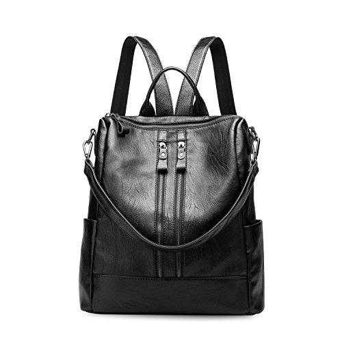 Leefrei - Bolso mochila  para mujer Negro 2in1 Schwarz 2in1 Schwarz