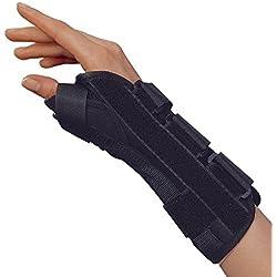 OTC Wrist-Thumb Splint, 8-Inch Adult, Lightweight Breathable, Small (Right Hand)