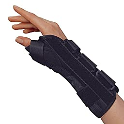 OTC Wrist-Thumb Splint, 8-Inch Adult, Lightweight Breathable, Small (Right Hand)