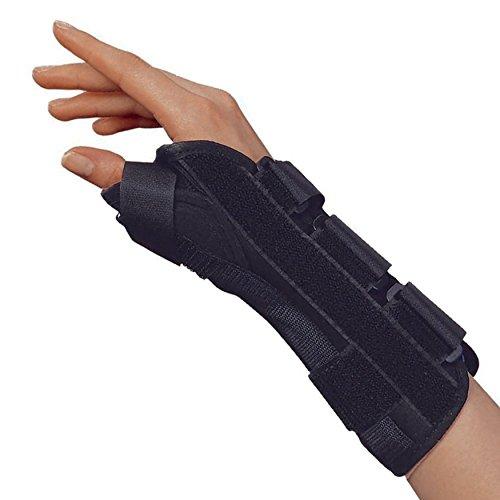 OTC Wrist-Thumb Splint, 8-Inch Adult, Lightweight Breathable, Medium (Right Hand)