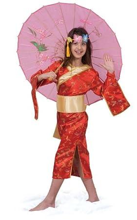 Dress Up America Adorable Traje de niña Japonesa: Amazon.es ...