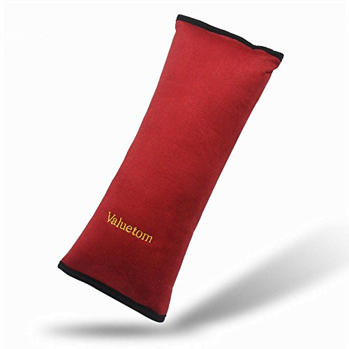 Valuetom Seatbelt Headrest Pillow Cover Shoulder Pad Comfy Support Car Pillow for Kids(Red)
