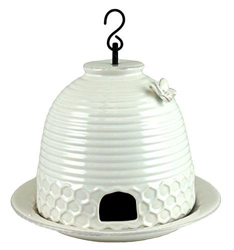 Bee Hive Antique Style Decorative Ceramic Bird Feeder