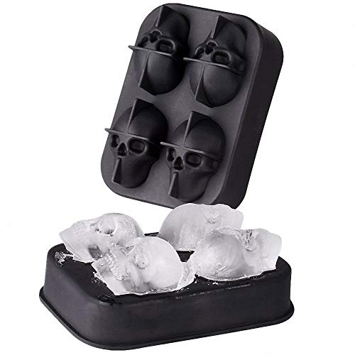 CentAnni Essentials Skull Molds & Trays for Ice Cube Chocolate Candy Cake and More