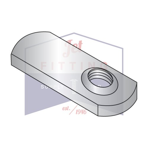 10-32 Tab Weld Nuts | Offset Hole Design; 5/8?? Tab Base, Without Projections | 18-8 Stainless Steel (QUANTITY: 1000) by Jet Fitting & Supply Corp