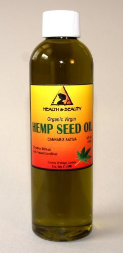 - Hemp Seed Oil Unrefined Organic Virgin Carrier Cold Pressed Pure 4 oz