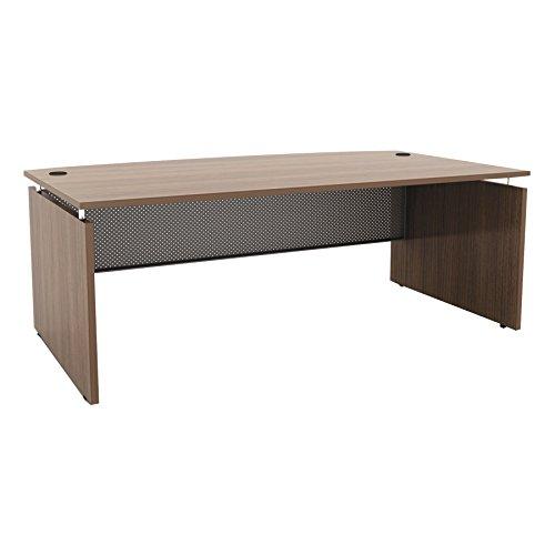 Alera Walnut Desk - Alera ALESE227242WA Sedina Series Bow Front Desk Shell, 72w x 42d x 29 1/2h, Modern Walnut