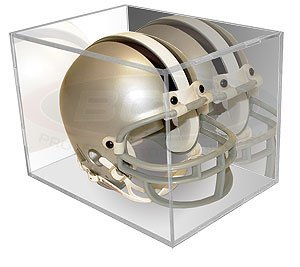 BCW BallQube Mini Helmet Holder Display MIRROR BACK - Football Helmet, Goalie Mask, Racing Helmet - Sports Memoriablia Display Case - Sportscards Collecting Supplies ()