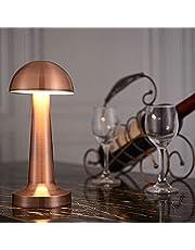 Bar LED bordslampa, USB Uppladdningsbar Trådlös Touch Control Dimbar Desk Lamp, för hotellrestaurang Reading Bedside Coffee Shop Night Lights,Bronze