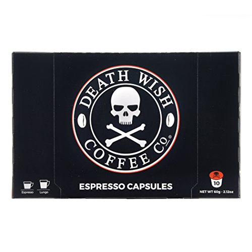 Death Wish Coffee Nespresso Compatible Capsules for Nespresso OriginalLine Brewers - USDA Certified Organic & Fair Trade - 10 Count