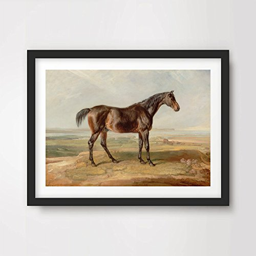 (HORSE PAINTING ART PRINT Poster Vintage Victorian Antique Equestrian Home Decor Design Wall Picture A4 A3 A2 (10 Size Options))