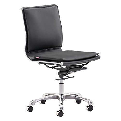 - Zuo Lider Plus Armless Office Chair, Black