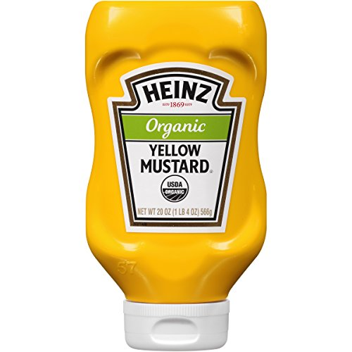 Heinz Organic Yellow Mustard, 20 ounce Easy Squeeze Bottle(Pack of 6) by Heinz