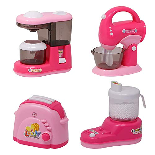 Jack Royal Fun Home Fantastic Mini Kitchen Household Appliances Pretend Play Set Toy for Kids with Light & Sound (Set of 4) (Appliances Set-3)