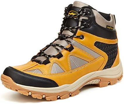 Goodyear Teton Men's Waterproof Leather Hiker Boot, Mountain and Work Shoes