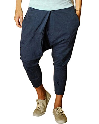 Minetom Slant Jogging Homme Herem Sarouel Taille Bleu Pantalon Bien Poches Élastique Conçu Elastique pxRrpqwtgn