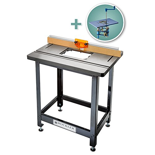 Bench Dog Cast Iron Router Table, Pro Fence, Steel Stand & FX Router Lift Cast Iron Router Tables