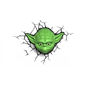 Lámpara quitamiedos 3D DECO LIGTH YODA HEAD