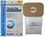 Aerus Electrolux Type C HEPA Certified Cloth Upright Vacuum Bags, 12 Bags.