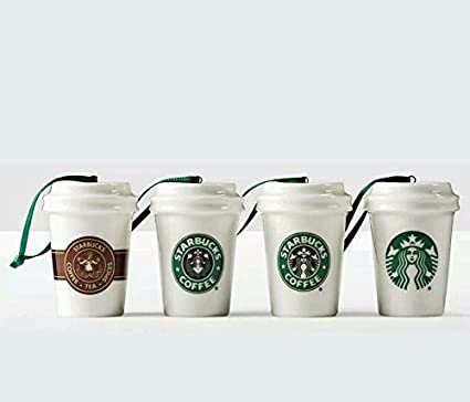 Starbucks Holiday Christmas Ornament 2016 Coffee Cups Mugs, Pack of 4 - Amazon.com: Starbucks Holiday Christmas Ornament 2016 Coffee Cups