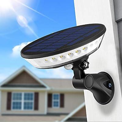 SYIHLON New Solar Lights Outdoor,3 Modes Wireless Solar Motion Sensor Light with 360° Illumination,80° Rotating Light Head IP65 Waterproof Solar Wall Light for Garden Driveway Garage Gate Yard Deck