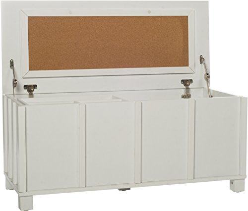 Comfort Products 50-CORK5001 Cork Collection Filing Trunk with Organizer Tray, White