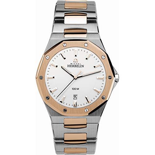 Michel Herbelin 12231/BTR11 'Odyssee' Steel & Pink Gold Men's Watch