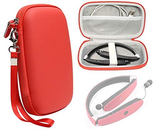 Wireless Foldable Sports Neckband Bluetooth Headphone Case for NEXGADGET, EGRD, HOBEST, Moche, Fetta, dostyle, Senbowe, Levin,Dylan, pkman, Bestyoyo, ATC, VICTA, AVIVANT, souldio(Red)
