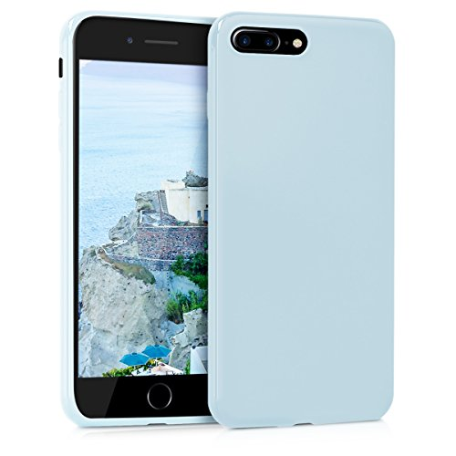 Silicone Matte (kwmobile Chic TPU Silicone Case for the Apple iPhone 7 Plus/8 Plus in light blue matte)