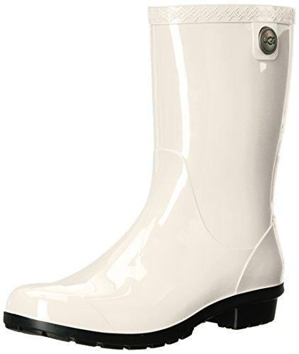 UGG Women's Sienna Rain Shoe, White/Black, 8 M US