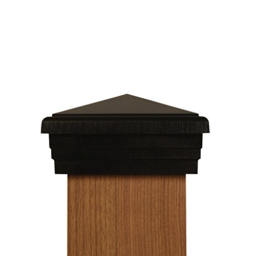 6x6 Post Cap (True 6) | Black New England Pyramid Style Square Top for Outdoor Fences, Mailboxes & Decks, by Atlanta Post Caps