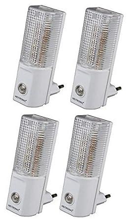 LED Nachtlicht mit Tag//Nacht Sensor 230V 120° 20lm 0,7W 5 LEDs warmweiß Notlicht