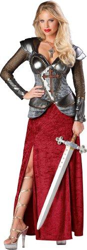 Joan Dress Arc Of Fancy Costume (InCharacter Costumes, LLC Women's Joan Of Arc Costume, Red/Silver,)