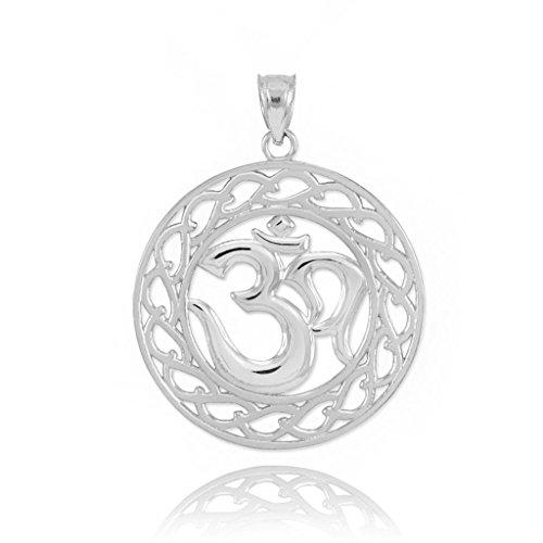 925 Sterling Silver Open Design Yoga Charm Om Pendant
