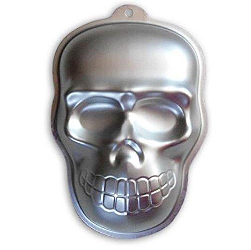ZJWEI 10 Inch Plane Aluminum Alloy 3D Cake Mold Baking Mould Tin Cake Pan -Skull]()