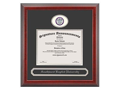 - Signature Announcements Southwest Baptist University Undergraduate Sculpted Foil Seal & Name Graduation Diploma Frame, 16