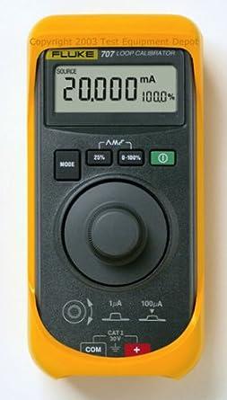 Fluke 707 Loop Calibrator with Quick Click Knob, 28V Voltage, 24mA Current,  0 015 percent Accuracy